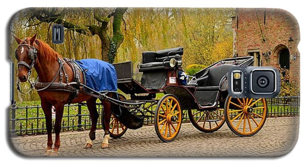 Immaculate Horse And Carriage Bruges Belgium Galaxy S5 Case