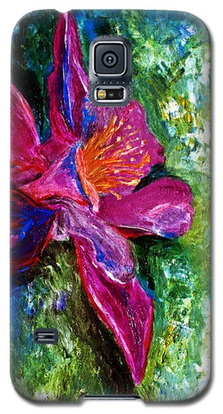 Galaxy S5 Case featuring the painting Impression Of Columbine by Ayasha Loya