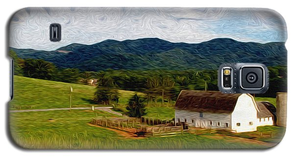 Galaxy S5 Case featuring the painting Impressionist Farming by John Haldane