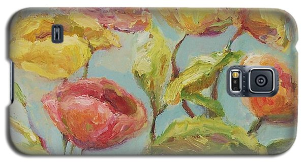Galaxy S5 Case featuring the painting Impressionist Floral Painting by Mary Wolf
