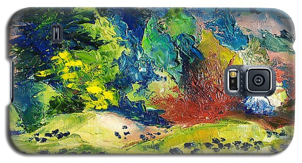 Impressionist Landscape With Cows Fine Art Oil Painting Galaxy S5 Case