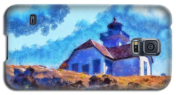 Galaxy S5 Case featuring the digital art Impressionist Lime Kiln Lightouse by Kaylee Mason