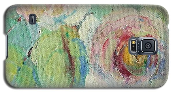 Galaxy S5 Case featuring the painting Impressionist Roses  by Mary Wolf