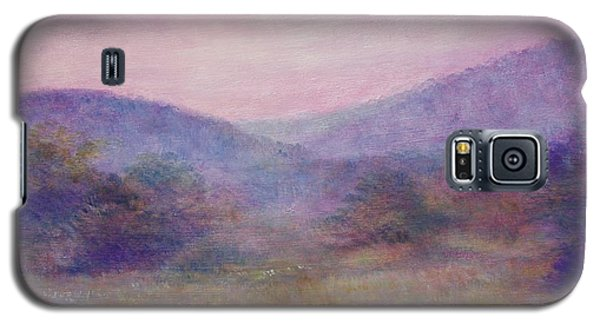 Galaxy S5 Case featuring the painting Impressionistic Foggy Summer Morning  by Judith Cheng