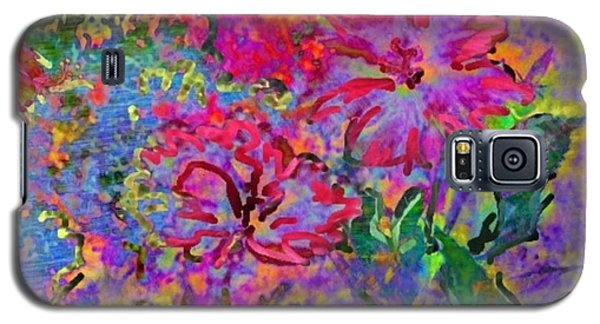 Impressionistic Magenta Hibiscus - Square Galaxy S5 Case by Lyn Voytershark