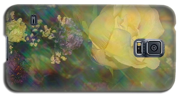 Galaxy S5 Case featuring the photograph Impressionistic Yellow Rose by Dora Sofia Caputo Photographic Art and Design