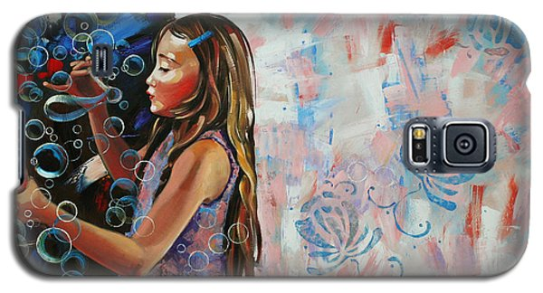 In A Country Blue Dragonflies  Galaxy S5 Case by Anastasija Kraineva