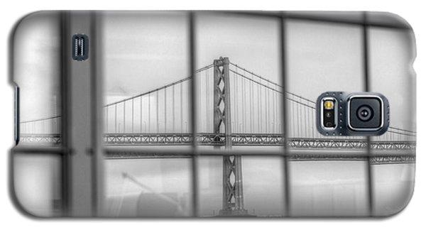 in a window the Bay Bridge Galaxy S5 Case
