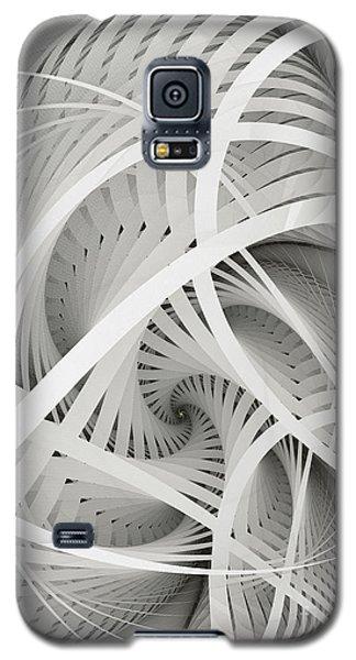 In Betweens-white Fractal Spiral Galaxy S5 Case