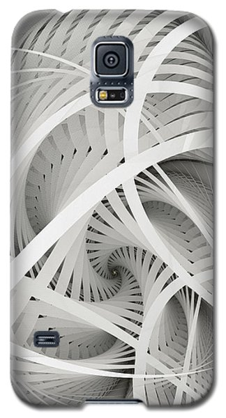 In Betweens-white Fractal Spiral Galaxy S5 Case