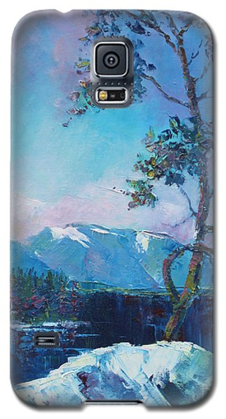 Galaxy S5 Case featuring the painting In Blue Mood by Marta Styk
