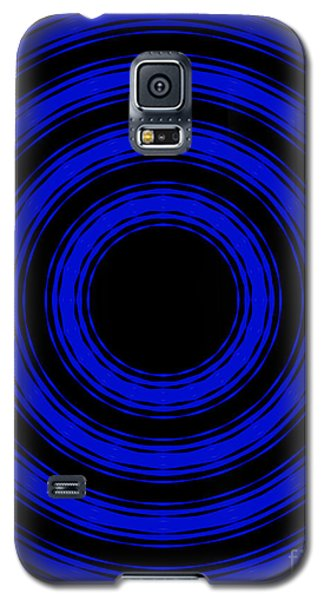 Galaxy S5 Case featuring the painting In Circles- Blue Version by Roz Abellera Art