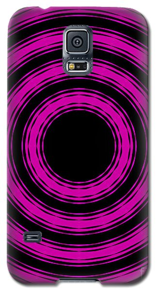 Galaxy S5 Case featuring the painting In Circles-pink Version by Roz Abellera Art