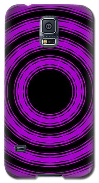 Galaxy S5 Case featuring the painting In Circles-purple Version by Roz Abellera Art