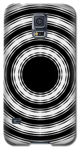 Galaxy S5 Case featuring the painting In Circles by Roz Abellera Art