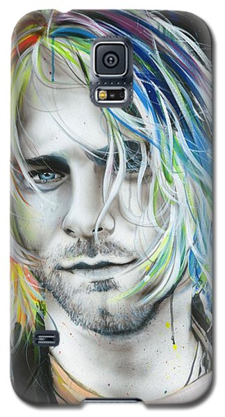 Kurt Cobain - ' In Debt For My Thirst ' Galaxy S5 Case by Christian Chapman Art