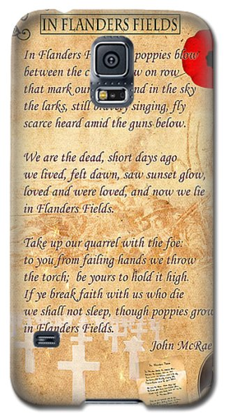 In Flanders Fields Galaxy S5 Case by Andrew Fare
