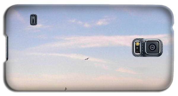 Galaxy S5 Case featuring the photograph In Flight Over Rehoboth Bay by Pamela Hyde Wilson