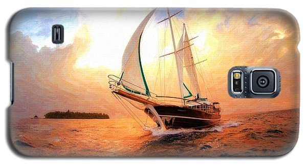 In Full Sail - Oil Painting Edition Galaxy S5 Case