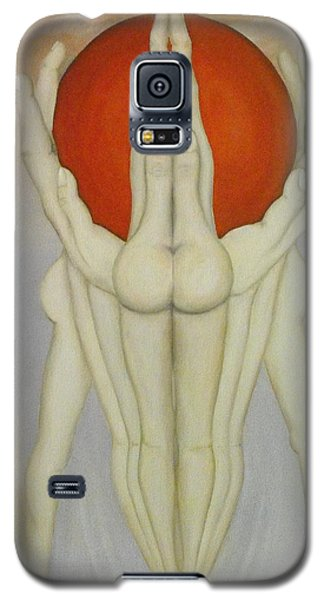 Galaxy S5 Case featuring the painting In Good Hands by John Stuart Webbstock