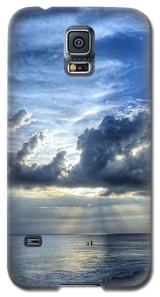 Sunset Galaxy S5 Case - In Heaven's Light - Beach Ocean Art By Sharon Cummings by Sharon Cummings