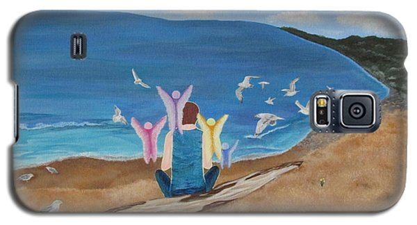 Galaxy S5 Case featuring the painting In Meditation by Cheryl Bailey