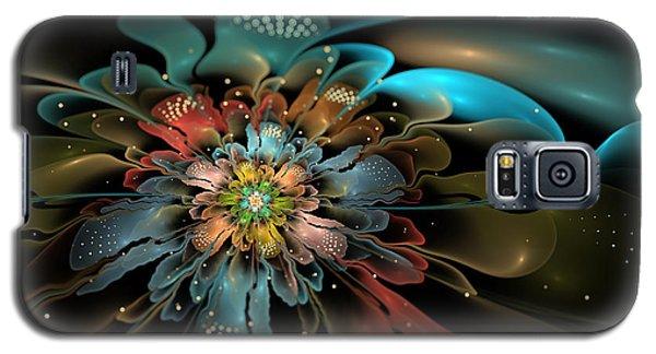 Galaxy S5 Case featuring the digital art In Orbit by Kim Redd