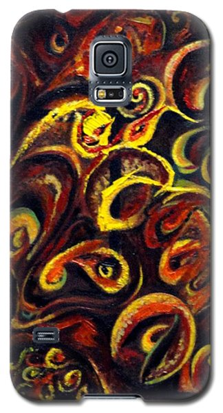 Galaxy S5 Case featuring the painting In Search Of  Ultimate Truth by Harsh Malik