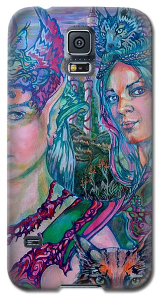 Galaxy S5 Case featuring the painting In Silvermoon City by Suzanne Silvir