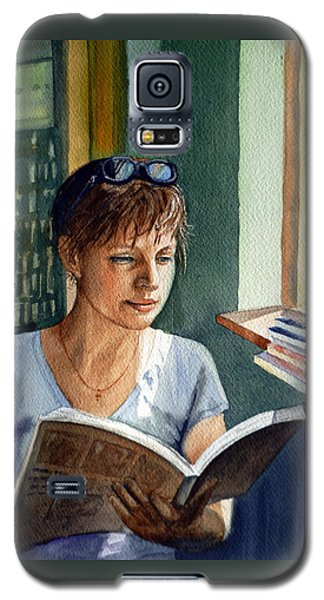 Galaxy S5 Case featuring the painting In The Book Store by Irina Sztukowski