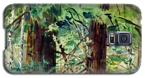 Galaxy S5 Case featuring the painting In The Canopy by Donald Maier