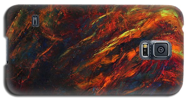 Galaxy S5 Case featuring the painting In The Fire by Jennifer Godshalk