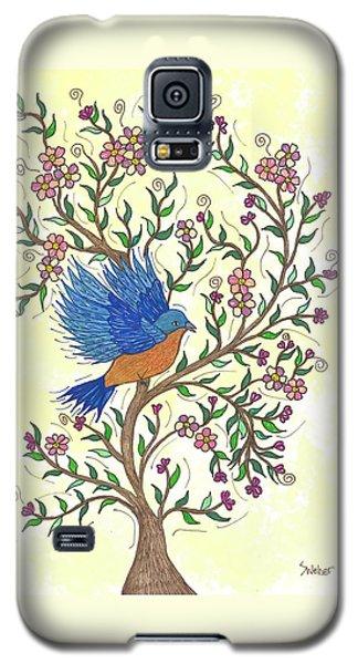 In The Garden - Bluebird Galaxy S5 Case by Susie WEBER