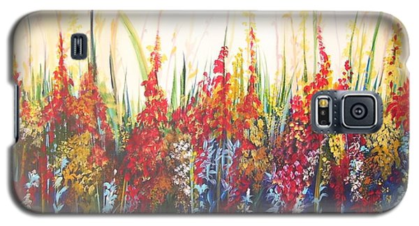 Galaxy S5 Case featuring the painting In The Garden by Nereida Rodriguez