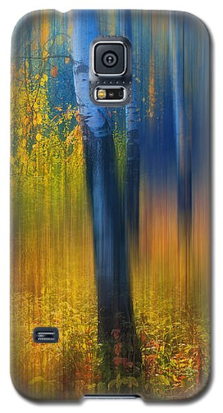 In The Golden Woods. Impressionism Galaxy S5 Case by Jenny Rainbow