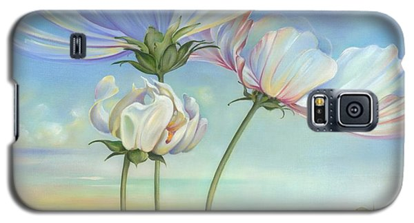 Galaxy S5 Case featuring the painting In The Half-shadow Of Wild Flowers by Anna Ewa Miarczynska