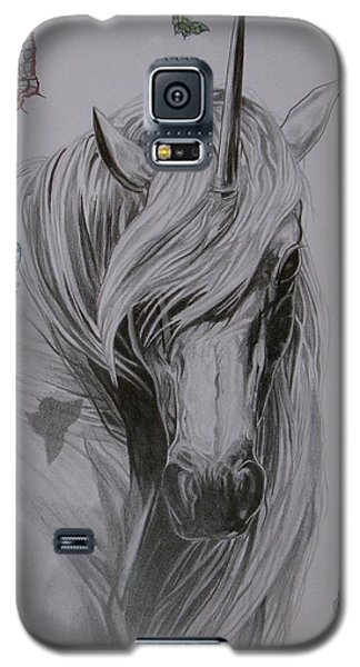 Galaxy S5 Case featuring the drawing In The Heaven by Melita Safran