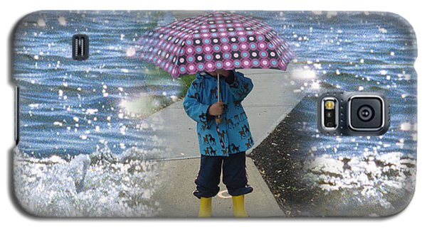 In The Rain I Love You Galaxy S5 Case by Kim Prowse