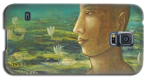 Galaxy S5 Case featuring the painting In The Realm Of Buddha by Mini Arora