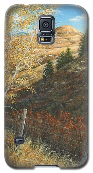 Galaxy S5 Case featuring the painting In The Shadow Of Belt Butte by Kim Lockman