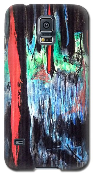 Galaxy S5 Case featuring the painting In The Woods by Daniel Janda