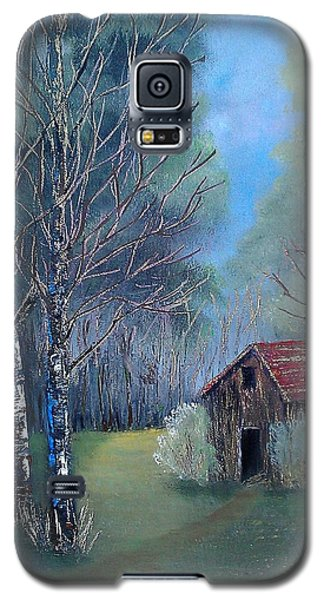 Galaxy S5 Case featuring the painting In The Woods by Suzanne Theis