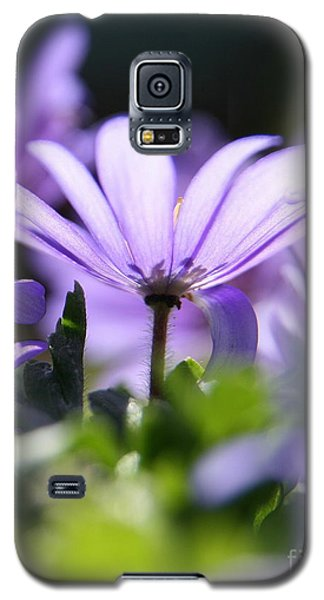 Floral Purple Light  Galaxy S5 Case