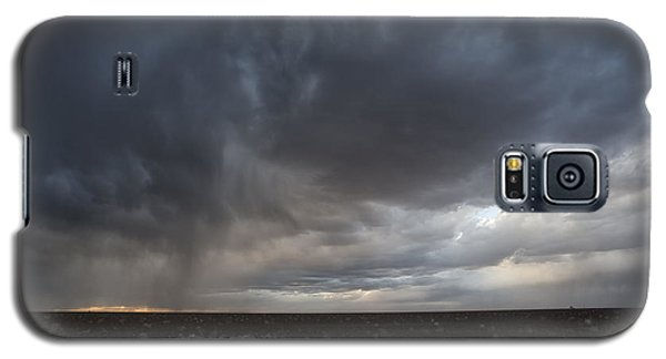Incoming Storm Over A Cotton Field Galaxy S5 Case by Melany Sarafis