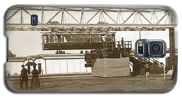 Galaxy S5 Case featuring the photograph Incredible Hanging Railway  1900 by California Views Mr Pat Hathaway Archives