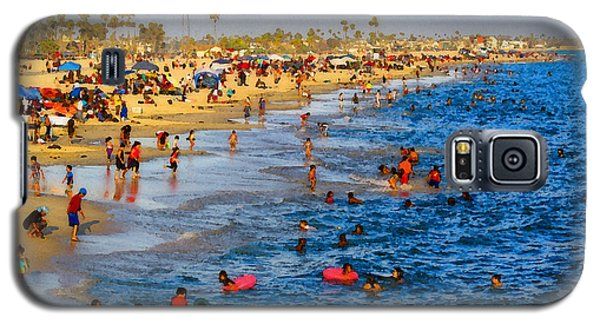 Galaxy S5 Case featuring the photograph Independence Day Beach Scene by Timothy Bulone