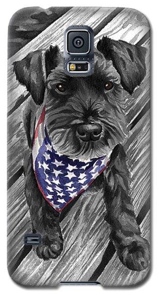 Watercolor Schnauzer Black Dog Galaxy S5 Case
