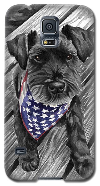 Watercolor Schnauzer Black Dog Galaxy S5 Case