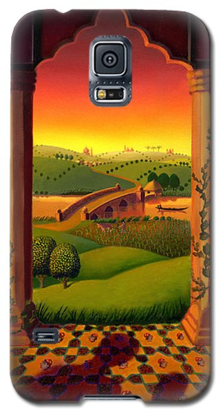 Galaxy S5 Case featuring the painting India Landscape by Robin Moline