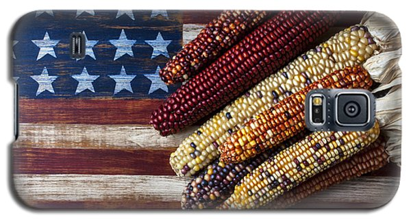 Indian Corn On American Flag Galaxy S5 Case